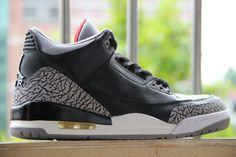 Air Jordan 3 Retro Black Cement, 136064-010