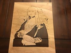Mona Lisa scroll saw art