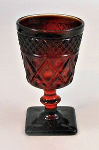 Imperial Glass Ruby Red Cape Cod Wine Glass Stem Line #160