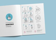 Instruction manual for a household electric appliance company. Book Design, Layout Design, Print Design, Brochure Design, Branding Design, Book Maker, Technical Illustration, Graduation Project, Instructional Design