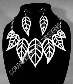 Make Your Own Laser-Cut Necklace and Earring Set Contains