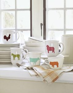 mugs with animals on them!