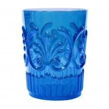 Le Cadeaux Blue Fleur Polycarbonate 16oz Tumblers (Set of 6)