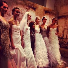 Monique Lhuillier wedding gowns, fall 2014 collection. Photo: Charanna K. Alexander/The New York Times