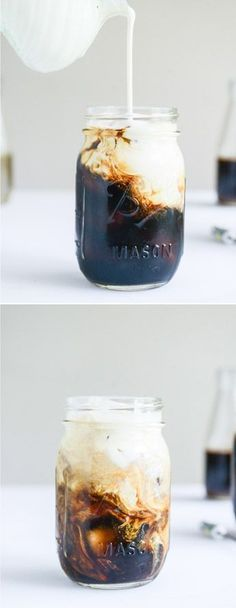 It's almost iced coffee season! This is my favorite cold brew with FOUR homemade syrups: vanilla bean, almond, cinnamon brown sugar and blackberry. I howsweeteats.com