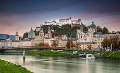 Salzburg Old Town - 105'' Long Exposure of Salzburg down town from the river bank.