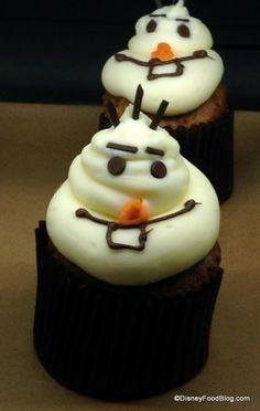 Olaf Cupcakes! #Frozen #WDW
