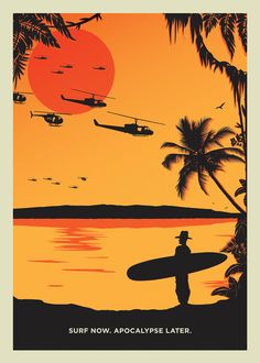 Originally a submission piece for 'Blisters The Directors Cut' exhibition organized by the Print Club Gallery, Surf Now apocalypse later is inspired by Francis Ford Coppola's 'Apocalypse Now'.