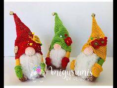 Gnomo en amigurumi, amigurumis y Petus - YouTube Christmas Tree, Christmas Ornaments, Knitting Needles, Knit Crochet, Shapes, Holiday Decor, Diy, Crafts, Key Chains