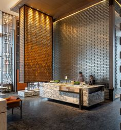 hotel lounge Hotel Canopy by Hilton Chengdu City Centre, China urdesignmag Hotel Canopy, Hotel Lounge, Lobby Lounge, Lobby Bar, Hotel Lobby Design, Luxury Hotel Design, Luxury Hotels, Lobby Reception, Reception Areas