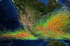 The path of every hurricane since 1842, from NOAA.
