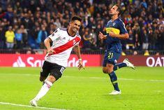 """Pity Martínez: """"En la corrida del gol a Boca perdí un poco el conocimiento"""" El 10 del Millonario reconoció que """"quedó aturdido"""" en el largo trayecto que recorrió en el Bernabéu con la pelota dominada hasta llegar al arco y convertir el 3-1 en la final de la Libertadores."""