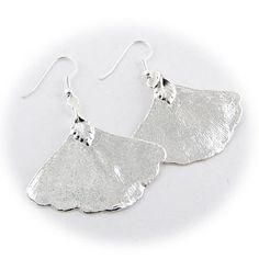Silver Plated Ginko Real Leaf Earrings Earrings by Joyful Creations, http://www.amazon.com/dp/B007Q5UQWO/ref=cm_sw_r_pi_dp_w1mxqb1CZPQY6