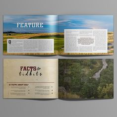 Design a rustic-cool magazine cover/sample pages for one of America