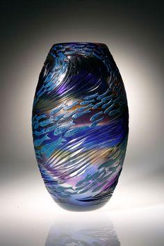 Helen Millard Cameo Glass Fish Swirl