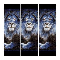 Shop Majestic Trio Sparkle Lions Triptych created by ManCavePortal. Triptych Wall Art, Male Lion, Majestic Animals, Single Image, Photographic Prints, Big Cats, Art Boards, Lions, Portal