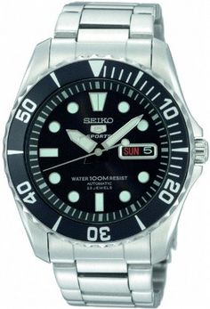 Seiko 5 Black Dial Stainless Steel Automatic Mens Watch SNZF17 Seiko http://www.amazon.com/dp/B001IBF15Y/ref=cm_sw_r_pi_dp_dSH4tb0SE0NVA