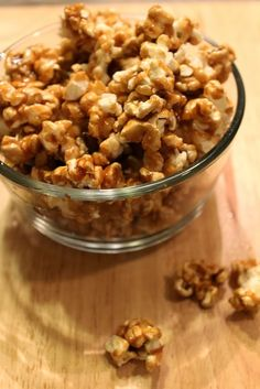 salted caramel popcorn - this is so good but make sure you stir it while the caramel is cooking...otherwise you will get scalded caramel popcorn!
