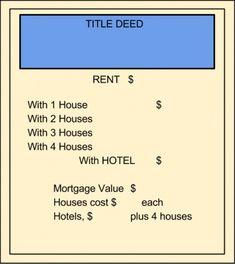 Blank property card.