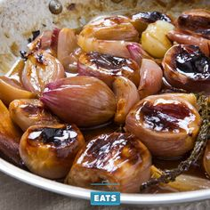 Sweet, delicately pungent shallots are prized for their unobtrusive flavor in risottos and vinaigrettes, but in our opinion, they deserve to be served whole, too.