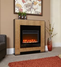 Oslo Electriflame Electric Fireplace Suite, From Celsi Electric Fireplace Suites, Electric Fireplaces, Real Fire, Electric Fires, Stove Fireplace, Oslo, Household, New Homes, Living Room