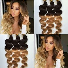 #new#arrives#2016#fashion#Ombre#color#humanhair#virgin#waves#two#tones BeaHairs.com -- the best human hair online
