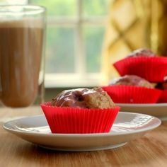 "Cherry Buttermilk ""Doughnut"" Muffins - A sweet way to start the day (Recipe provided)"
