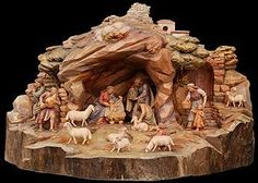 Resultado de imagen para pinterest+presepi Christmas Grotto Ideas, Christmas Crib Ideas, Christmas Wreaths, Christmas Crafts, Merry Christmas, Christmas Decorations, Xmas, Christmas Nativity Scene, Christmas Villages