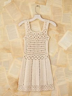 Crochet patterns: Crochet Free People Vintage Mini Dress - Free Patt...