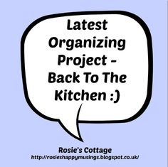 Rosie's Cottage: Tiny Organizing Projects All Add Up :)