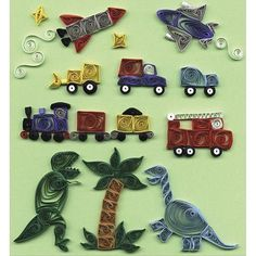 Crafts & Sewing Quilled Creations Quilling Kits - Just For Little Boys