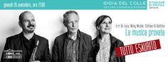 Gioia del Colle || La Musica Insieme Tour 2015. Stefano Di Battista, Nicky Nicolai, Erri De Luca