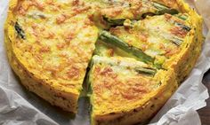 Hugh Fearnley-Whittingstall's polenta and asparagus tart: Tastes as good as it looks. Photograph: Colin Campbell for the Guardian DO NOT ADD SALT! Polenta Recipes, Veggie Recipes, Baking Recipes, Great Recipes, Favorite Recipes, Polenta Cakes, Veggie Dishes, Lunch Recipes, Recipe Ideas