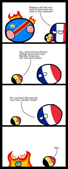 """Wiggly mouse-drawn comics where balls represent different countries. They poke fun at national stereotypes and the """"international drama"""" of their. Some Jokes, History Memes, How To Make Comics, Fun Comics, Haha Funny, Poland, Colonial, Funny Quotes, Country"""