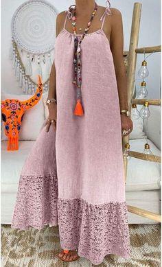 Casual Women Summer Printed Loose Dress Page Casual Fall Outfits, Casual Dresses, Summer Dresses, Maxi Dresses, Chic Dress, Boho Dress, Look Fashion, Fashion Outfits, Beautiful Dress Designs