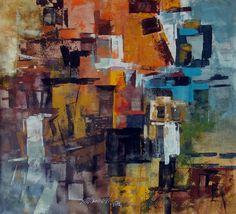 "Saatchi Art Artist: Ramesh A R; Acrylic 2012 Painting ""Big city 2"""