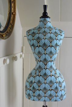 Corset Laced Mannequins: New Wasp Waist Mannequin ~ Amy Butler fabric