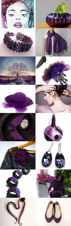 Purple Saturday by Rosa on Etsy--Pinned with TreasuryPin.com