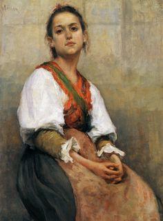 Pekka Halonen, Italialaistyttö (Italian Girl), 1894, The Life and Art of Pekka Halonen - http://www.alternativefinland.com/art-pekka-halonen/