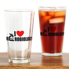 I love microbiology Drinking Glass