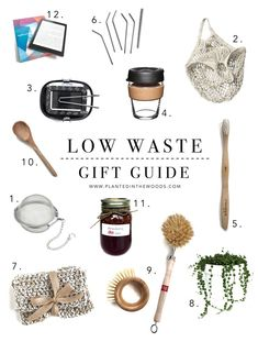 Low Waste Gift Ideas – Planted in the Woods Zero Waste, Reduce Waste, Reduce Reuse Recycle, Homemade Cleaning Products, Plastic Waste, Green Cleaning, Sustainable Living, Sustainable Fashion, Gift Guide