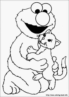 Matching Activity Coloring Page – Sesame Street Coloring ...