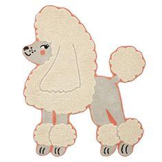 Posh Poodle Rug | The Land of Nod