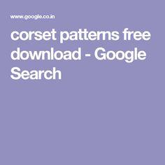 corset patterns free download  - Google Search