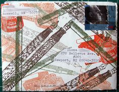Fountain-pen stamped envelope