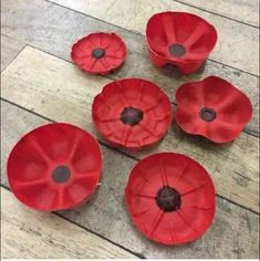 Plastic poppies created from recycled plastic drinks bottles. Plastic poppies created from recycled plastic drinks bottles. Poppy Craft For Kids, Art For Kids, Crafts For Kids, Remembrance Day Activities, Remembrance Day Poppy, Plastic Bottle Flowers, Plastic Bottle Crafts, Water Bottle Crafts, Plastic Art