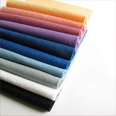 Wool Felt fabric sheets - SET of 10 pieces in winter shades