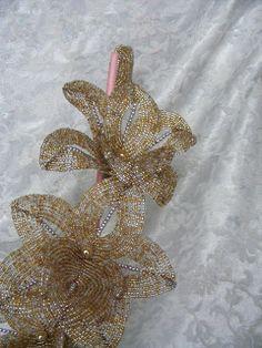 beaded vivie1: fleurs en perles
