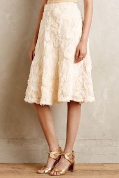 HD in Paris Tufted Blossom Midi Skirt #anthrofave