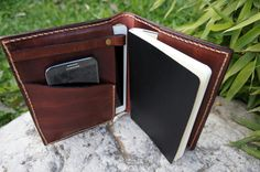 Ipad Mini cover and Large Moleskine case leather chocolate brown , unique father's day gifts , fathers day on Etsy, $65.00